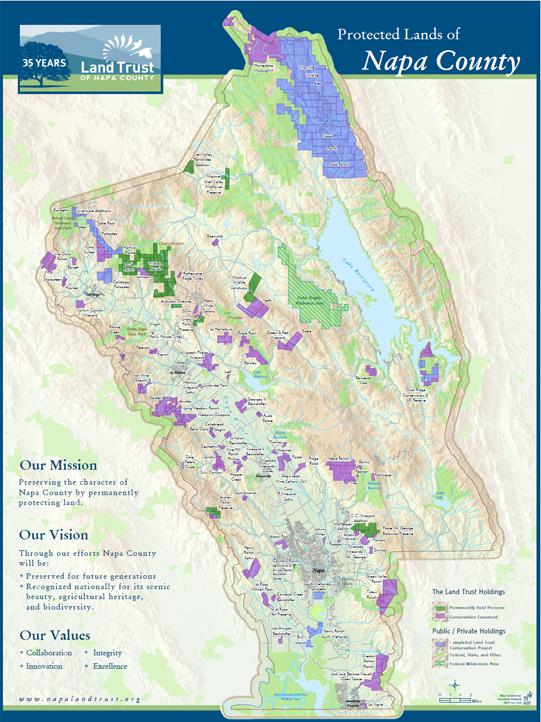 Protected Lands of Napa County