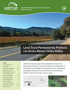 Land Trust of Napa County Winter 2015 Newsletter
