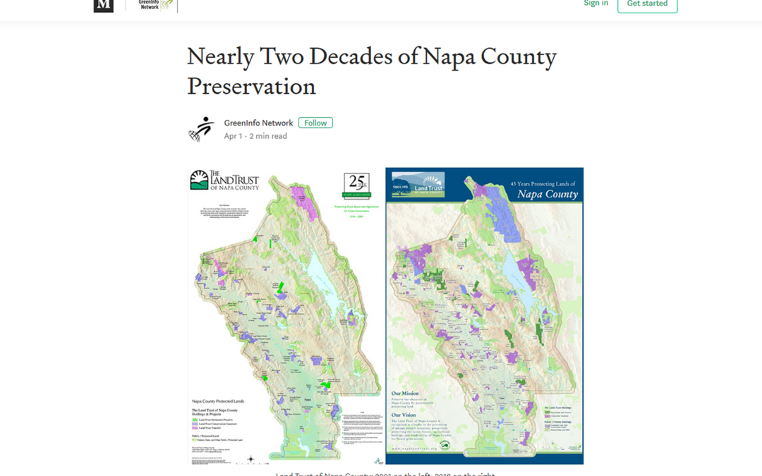 Side-by-side map showcases long-term land protection